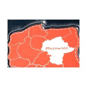 Aplikacja z biało-czerwonego laminatu z wyszczególnieniem województwa mazowieckiego 0337_2
