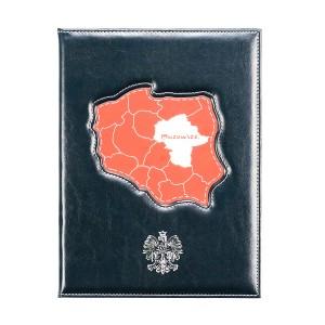 Dyplom z biało-czerwonym wypełnieniem oraz tłoczeniem - Orzeł Biały 0337_1