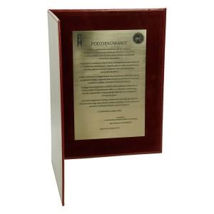 Dyplom z grawerowaną dedykacją na laminacie grawerskim 0624_1