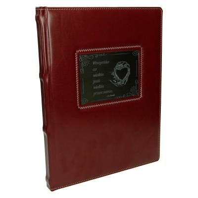 Księga z grawerowanym napisem 0883