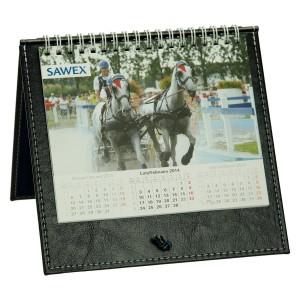 Kalendarz biurkowy skórzany 0640_1 Kalendarze - ekoskóra, skóra