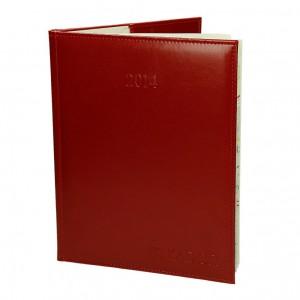 Kalendarz z eko skóry czerwonej 0639_1