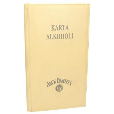 Karty alkoholi z eko skóry na zamówienie 0997