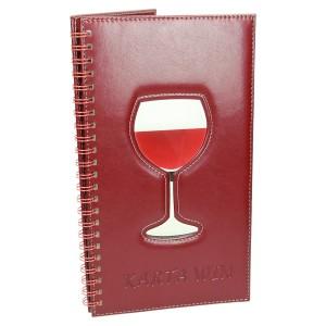 Karta win restauracji z aplikacją z akrylu 0996_1 Okładki ze spiralą
