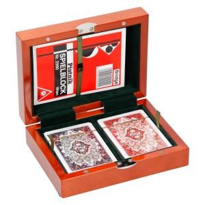 Karty do gry w pudełku drewnianym 0470_1 Pozostałe propozycje