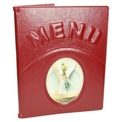 Menu dla restauracji z aplikacją i tłoczeniem 0357