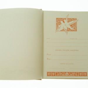 Księga ślubna na wesele KS-1 AB (ekoskóra) 0873_2