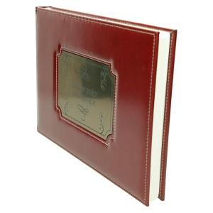 Księga z grawerowaną tabliczką w kolorze ciemno złotym 0584_2