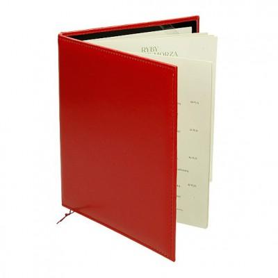 Kwadratowa okładka menu ze sznureczkiem na grzbiecie 0592