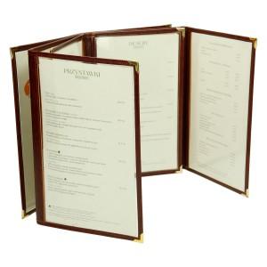 Okładka z przezroczystymi kartami na menu 0591_2