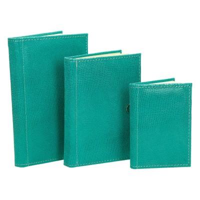 Zestaw notesów ze skóry turkusowej 0604