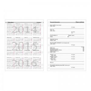Wkład kalendarzowy A-4 tydzień na dwóch stronach do organizerów 2