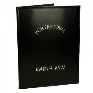 Złocenie napisu karta win na okładce 0636_2