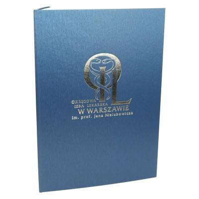 Oprawa dyplomu z drukowanym środkiem 0914