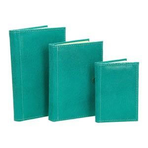 Zestaw skórzany dwa notesy i notatnik 0678_1
