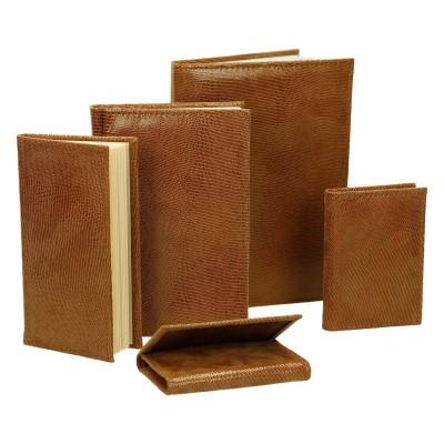 Zestaw skórzany dwa notesy, kalendarz, notatnik i etui 0677