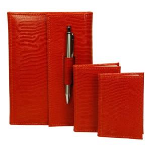 Zestaw skórzany notes, notatnik i notes teleadresowy 0676_1