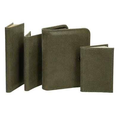 Zestaw skórzany organizer, notatnik, notes i etui 0674