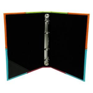 Ring mocowany na grzbiecie Łączenia materiałów w różnych kolorach