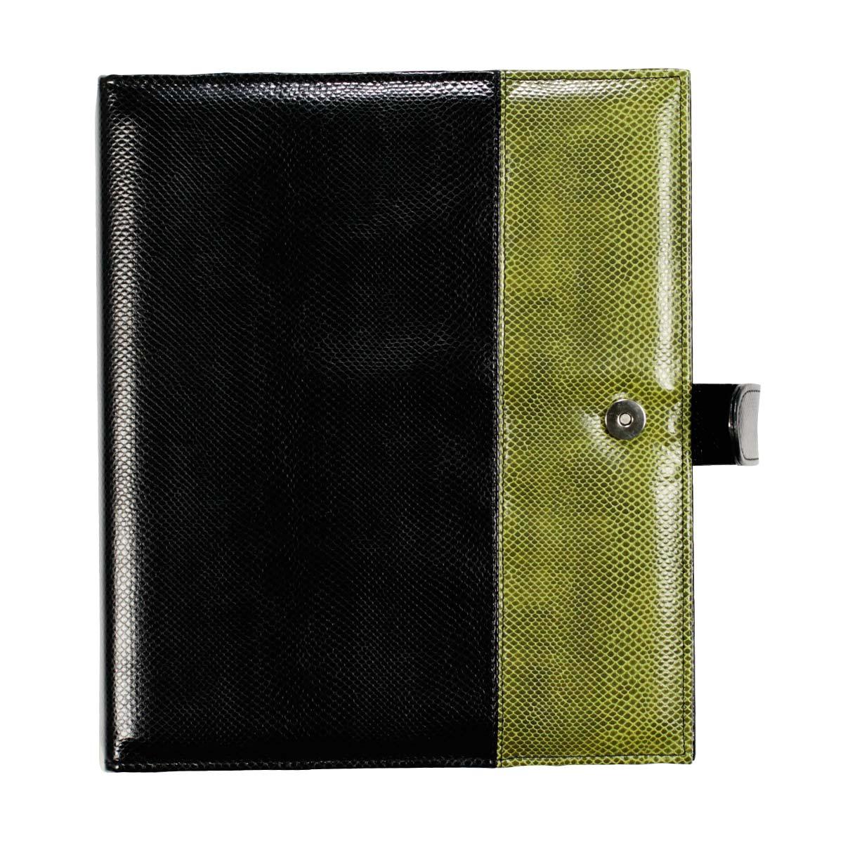 Łączenie skóry węża czarnej z zieloną 1 Łączenia materiałów w różnych kolorach