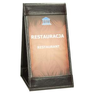 Rozkładany stojaczek na stolik z menu dnia restauracji 0390_1 Akcesoria dodatkowe