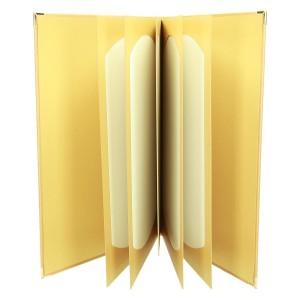 Jasno złota oprawa imitująca tkaninę 1092_1 Informatory