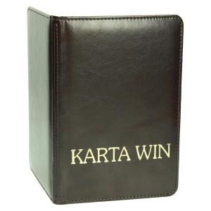 Złocony napis 'Karta win' na oprawie A5 karty win 1086_1 Win