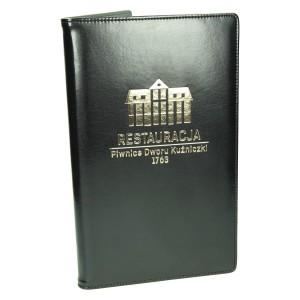 Karty menu na wymienne wkłady foliowe - produkcja 1109_1 Okładki na karty menu