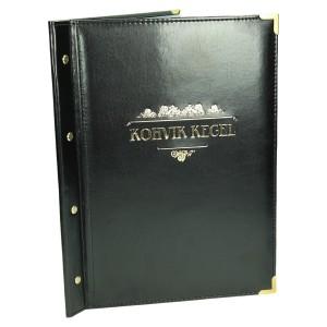 Złocenie i narożniki metalowe złote 1108_1 Okładki na karty menu