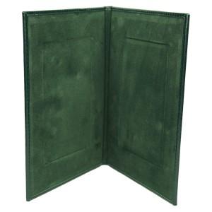 Środek okładki wyścielony welurem w kolorze zielonym 1148_2
