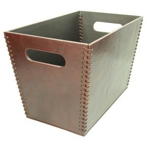 Pudełko na gazety skórzane 1157_1 Podkłady na biurko producent