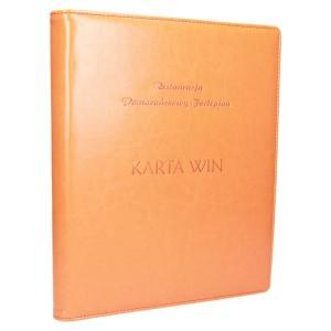 Pomarańczowa ekoskóra z tłoczeniem stemplem 1188_1