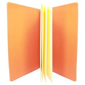 Pomarańczowa ekoskóra z tłoczeniem stemplem 1188_2