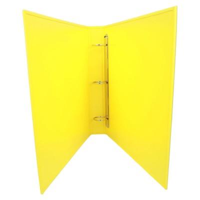 Żółty segregator A-3 z potrójnym ringiem 1219