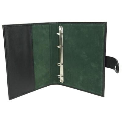 Segregator skórzany zielony 1203